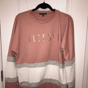 Sweaters - Pink, White & Grey pull over